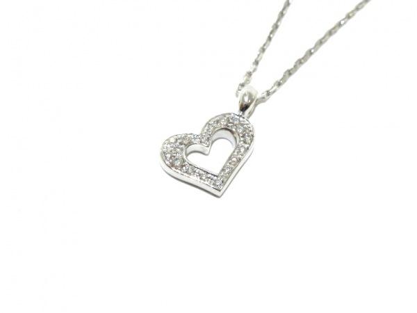 PIAGET(ピアジェ) ネックレス美品  K18WG×ダイヤモンド ハート