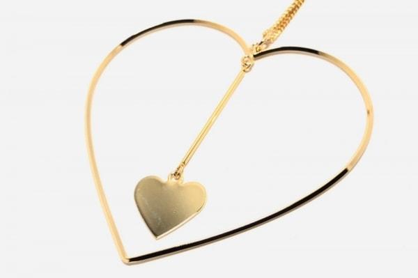 Bijou R.I(ビジュー アール・アイ) ネックレス美品  金属素材 ゴールド ハート