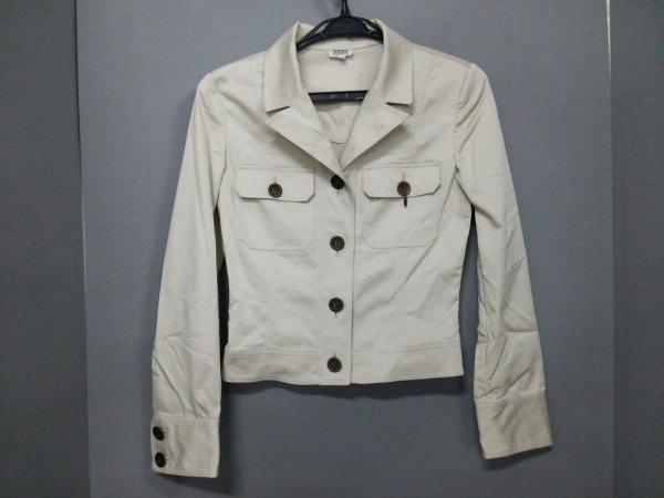 フォクシー ジャケット サイズ40 M レディース 19076 ベージュ BOUTIQUE/肩パッド