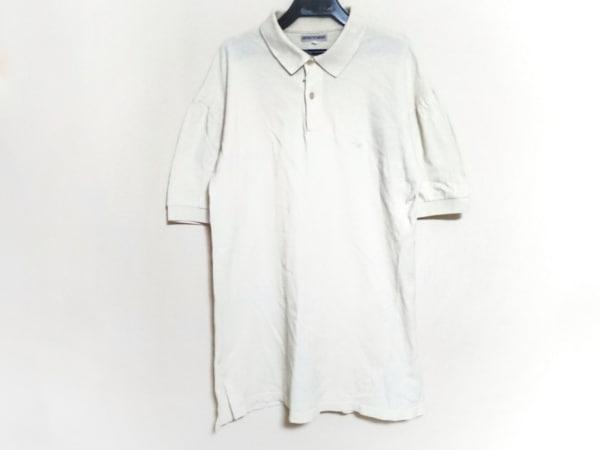 EMPORIOARMANI(エンポリオアルマーニ) 半袖ポロシャツ サイズL メンズ アイボリー
