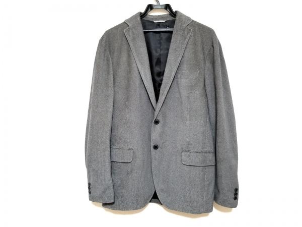 23区 HOMME(ニジュウサンク オム) ジャケット サイズ50 メンズ美品  ダークグレー×白