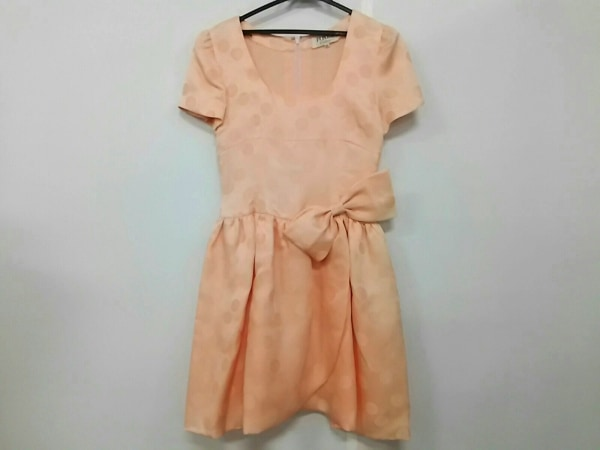 FOXEY(フォクシー) ドレス サイズ40 M レディース ピンク リボン/ドット柄