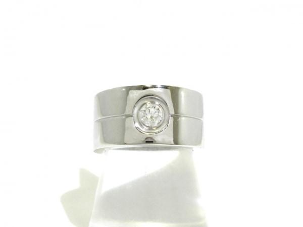 Cartier(カルティエ) リング 53美品  ハイラブリング K18WG×ダイヤモンド 1Pダイヤ