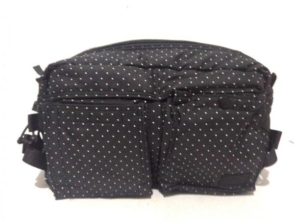 ヘッドポーター ウエストポーチ美品  - 黒×白 BLACK BEAUTY/ドット柄 ナイロン