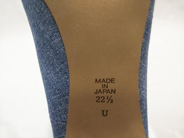DIANA(ダイアナ) パンプス 22 1/2 レディース美品  ブルー ビジュー/ハート 化学繊維