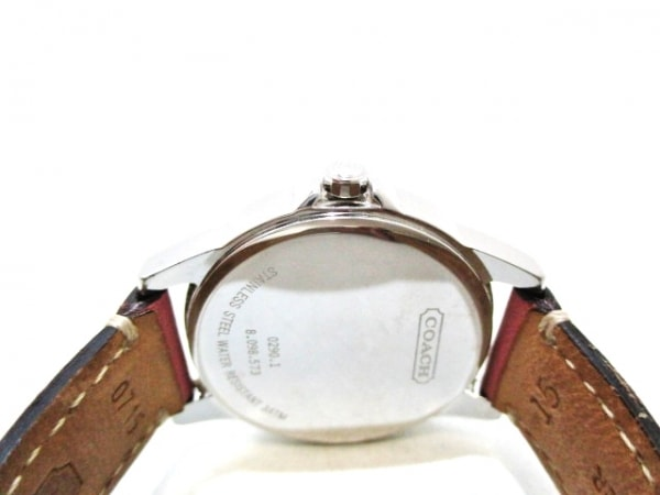 COACH(コーチ) 腕時計 0290.1 レディース シルバー×白