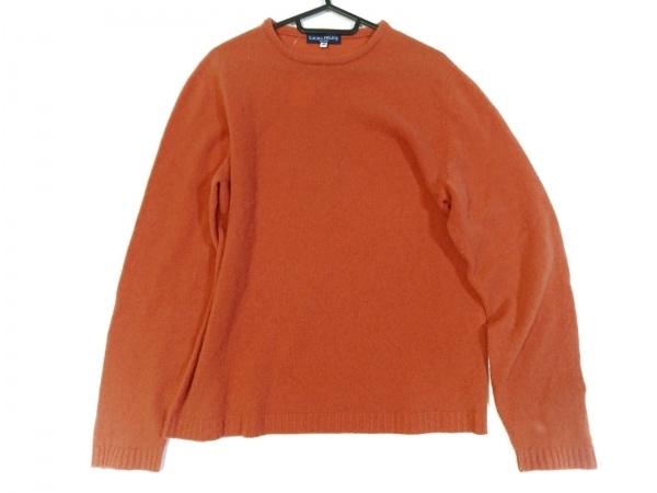 ラウラフェリーチェ 長袖セーター サイズ46 XL レディース美品  オレンジ カシミヤ