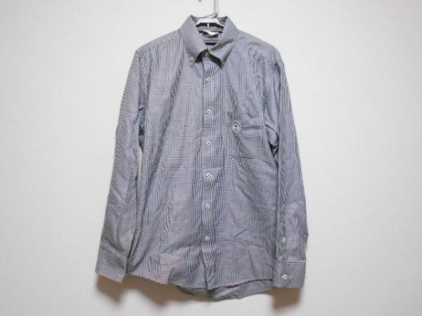 PICONE(ピッコーネ) 長袖シャツ サイズ48 M メンズ 黒×白 千鳥格子