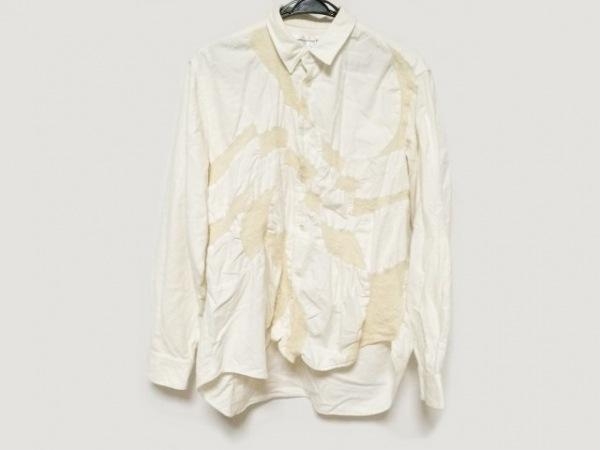 コムデギャルソンシャツ 長袖シャツ サイズM メンズ 白×アイボリー
