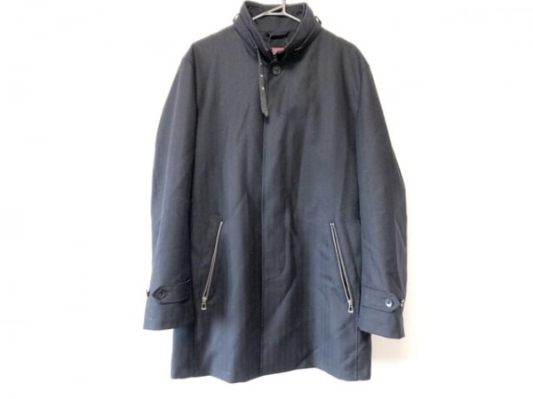 monsieur NICOLE(ムッシュニコル) コート サイズ50 メンズ美品  黒 ジップアップ/冬物