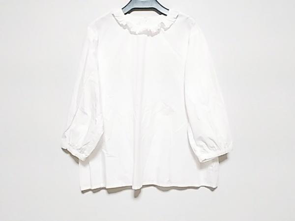 アトリエドゥサボン 七分袖シャツブラウス サイズF レディース美品  白 背中開き