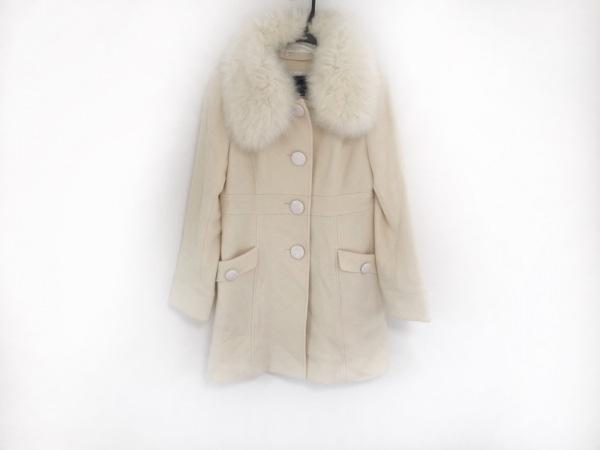 ミッシュマッシュ コート サイズ38 M レディース美品  アイボリー ファー/冬物