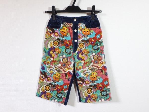 MINI-K(ミニK) パンツ サイズ140 レディース新品同様  ダークネイビー×白×マルチ