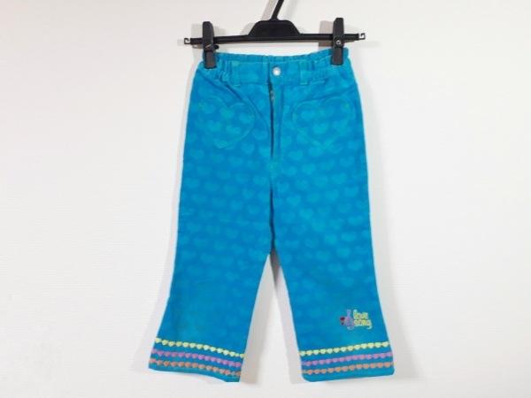 ミニK パンツ サイズ140 レディース新品同様  ライトブルー ハート/刺繍/子供服