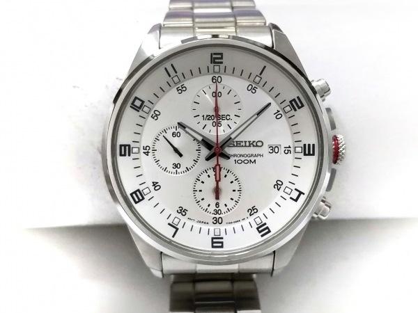 SEIKO(セイコー) 腕時計美品  7T92-0MF0 メンズ クロノグラフ シルバー