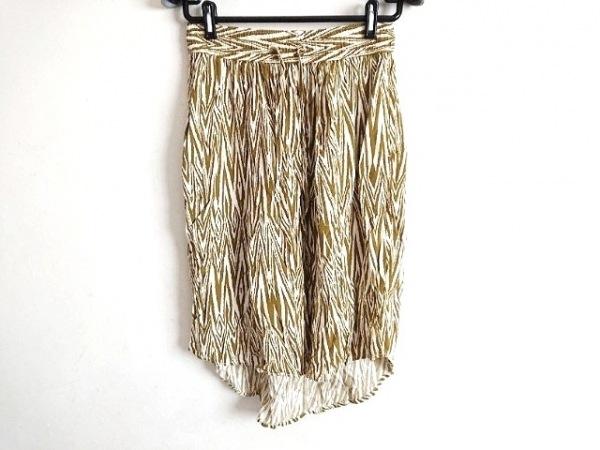 KAVU(カブー) スカート サイズXXS XS レディース カーキ×白