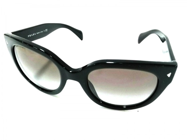 PRADA(プラダ) サングラス SPR170 黒×ライトグレー プラスチック