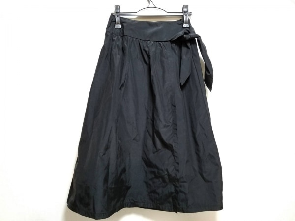 Max Mara(マックスマーラ) 巻きスカート サイズ40 M レディース美品  黒 ロング丈