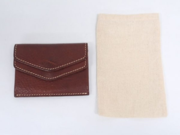 土屋鞄製造所(ツチヤカバンセイゾウショ) 名刺入れ ダークブラウン レザー