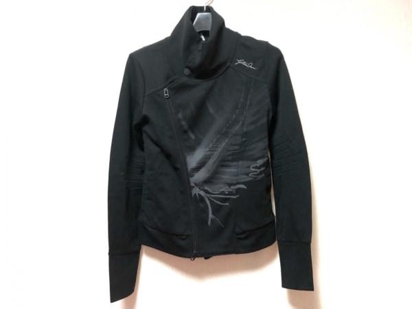 ジースターロゥ ブルゾン サイズXS レディース 黒×グレー 春・秋物/ジップアップ