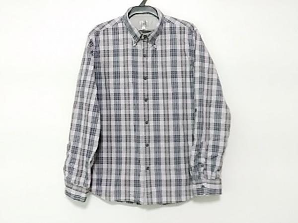 ザ ショップ ティーケー 長袖シャツ サイズ3 L メンズ パープル×黒×マルチ