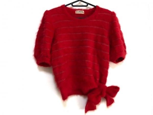 EL MIDAS(エルミダ) 半袖セーター サイズ12 L レディース美品  レッド