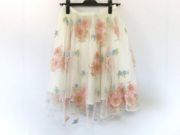 リリーブラウン スカート サイズF レディース美品  アイボリー×ピンク×マルチ