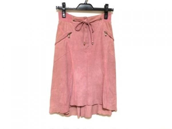 GUERRIERO(グエリエロ) スカート サイズ38 M レディース ピンク レザー
