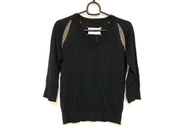 マルタンマルジェラ 七分袖セーター サイズM レディース 黒×ベージュ