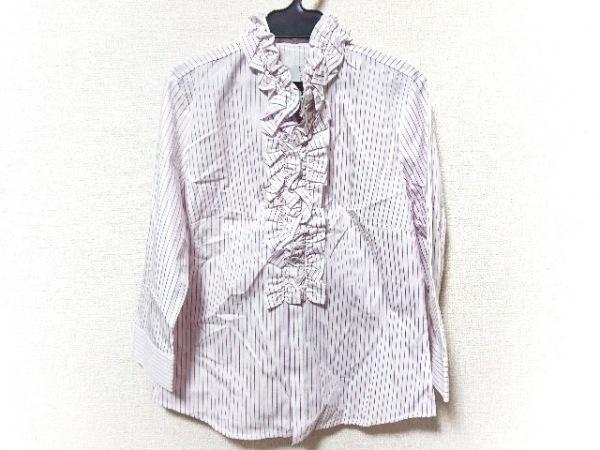 ナラカミーチェ 長袖シャツブラウス サイズ2 M レディース新品同様  白×ピンク