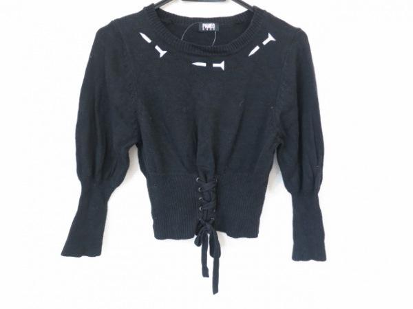 PAMEO POSE(パメオポーズ) 長袖セーター サイズF レディース美品  黒×白