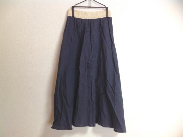 O'NEIL(オニール) スカート レディース ネイビー×ベージュ ウエストゴム