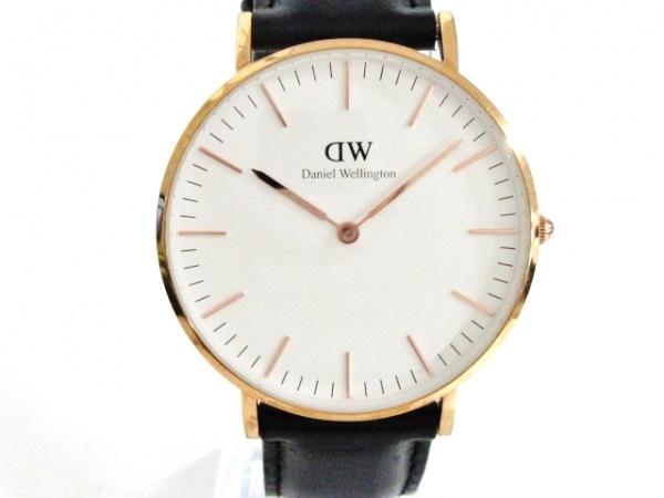 Daniel Wellington(ダニエルウェリントン) 腕時計 B11 レディース 革ベルト 白