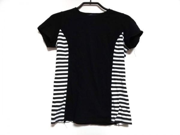 ボーダーズアットバルコニー 半袖Tシャツ サイズ36 S レディース 黒×白 ボーダー