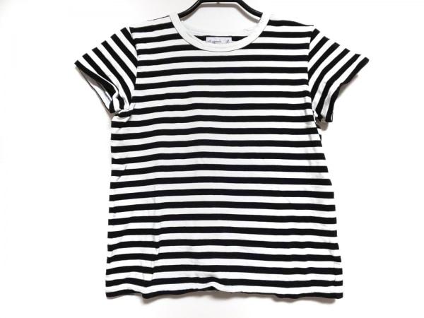 agnes b(アニエスベー) 半袖Tシャツ サイズT2 レディース 白×黒 ボーダー