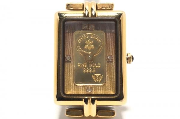 エルジン 腕時計 FK-558KI レディース K24プレート文字盤/5Pダイヤ K24YG×ゴールド
