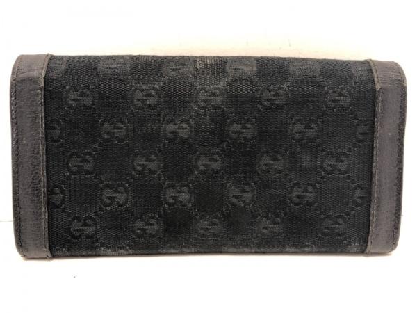 GUCCI(グッチ) 長財布 GG柄 154168 黒×ゴールド ジャガード×レザー