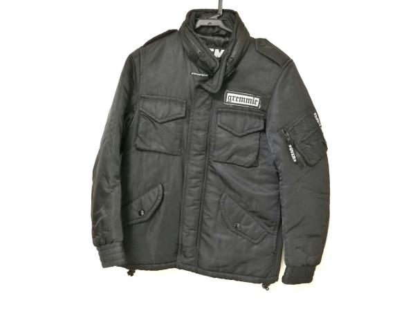 オーバーザストライプス ダウンジャケット レディース 黒 冬物/収納フード/GREMMiE