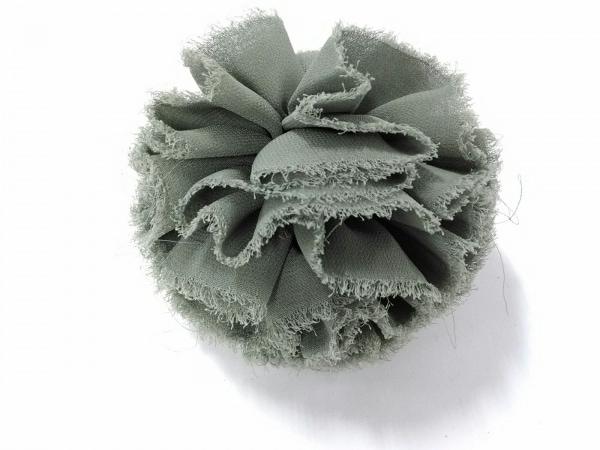 LUDLOW(ラドロー) シュシュ美品  化学繊維 ライトグリーン×ダークネイビー ヘアゴム