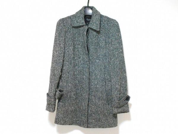M-PREMIER(エムプルミエ) コート サイズ36 S レディース 黒×白 ツイード/冬物