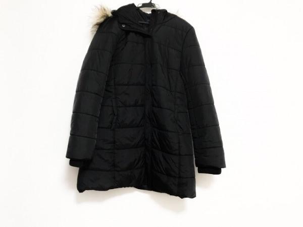 アメリカンイーグル ダウンコート サイズL メンズ美品  黒 ジップアップ/冬物