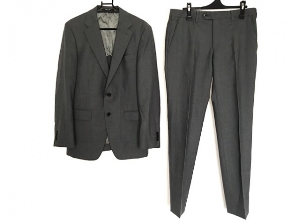 COMME CA MEN(コムサメン) シングルスーツ サイズ46 XL メンズ グレー