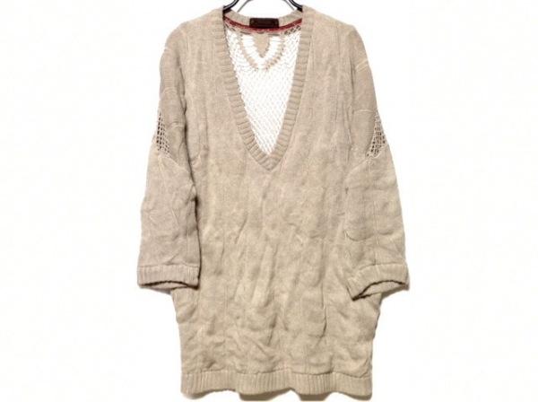the dress&co(ザドレスアンドコー) 七分袖セーター レディース ベージュ