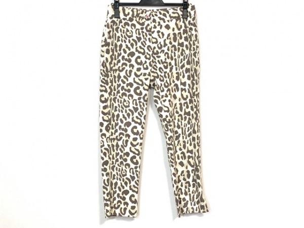 ブルーガール パンツ サイズ40 M レディース美品  アイボリー×ダークブラウン 豹柄
