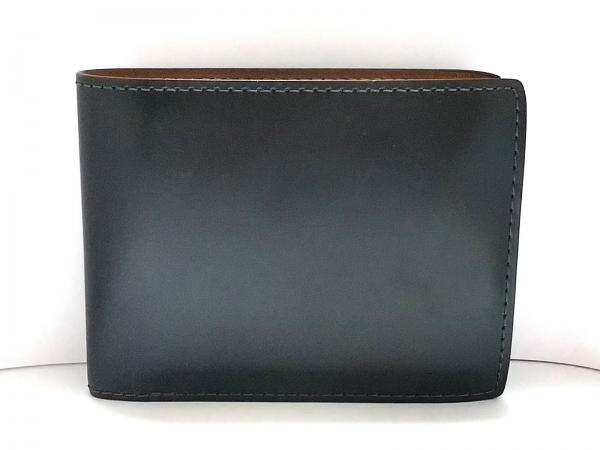 GANZO(ガンゾ) 2つ折り財布 ダークグリーン レザー
