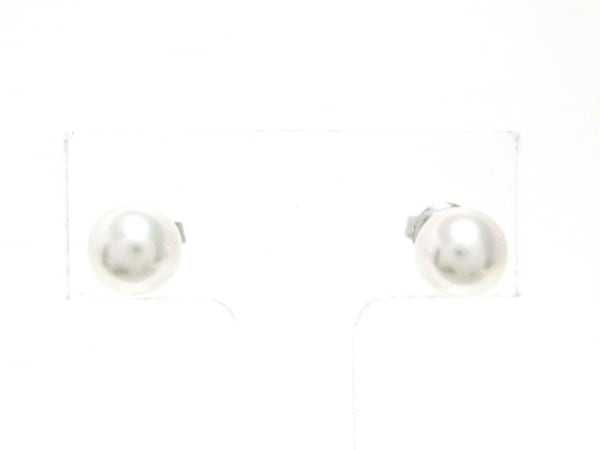 mikimoto(ミキモト) ピアス美品  K18WG×パール アイボリー