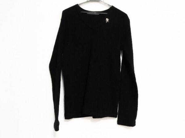 フランシストモークス 長袖セーター サイズ3 L メンズ美品  黒 ラインストーン/スカル