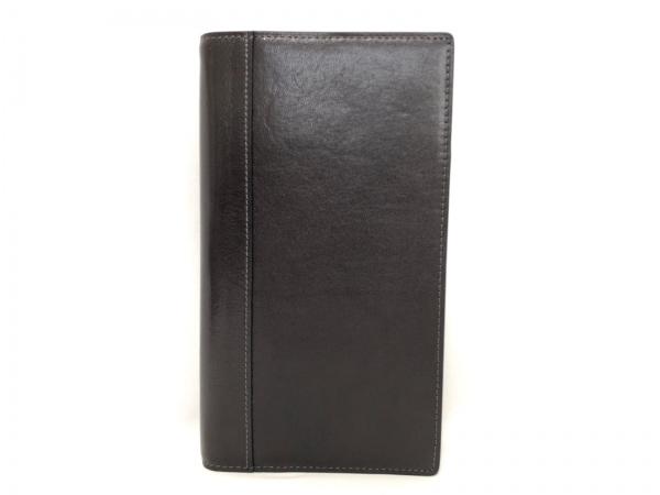 ASHFORD(アシュフォード) 手帳美品  ダークブラウン レザー