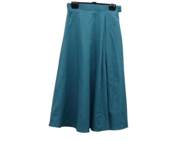 GOUT COMMUN(グーコミューン) スカート サイズ36 S レディース美品  ブルーグリーン