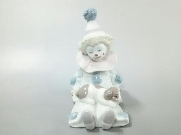 LLADRO(リヤドロ) 小物 ライトブルー×ライトピンク×マルチ 置物/ピエロ/犬 陶器